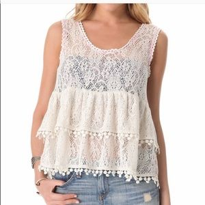 Free People lace top
